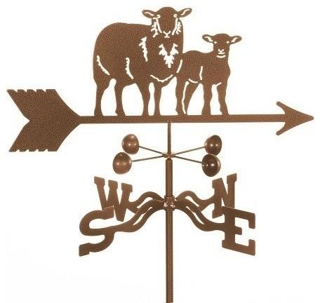 Sheep With Lamb Weathervane With 4 Sided Mount