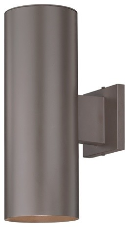 Up Down Bronze Cylinder Outdoor Wall Light
