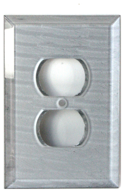 Glass Single Duplex Outlet Cover Contemporary Switch