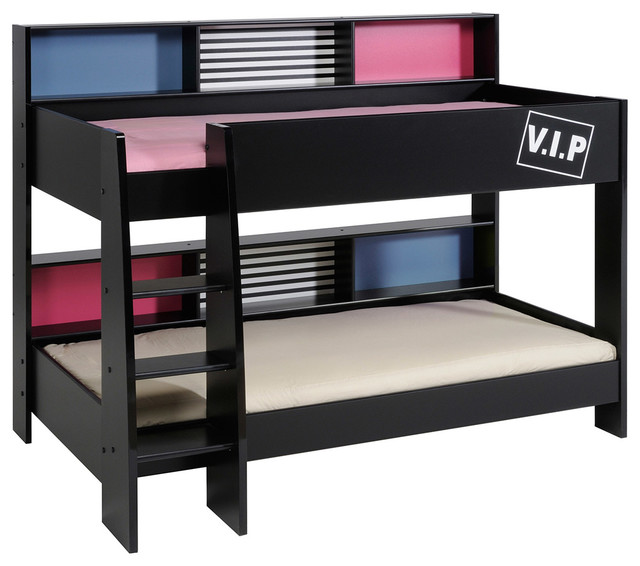 Double Vip Bunk Twin Over Twin Bed , 2 Mattresses Included.