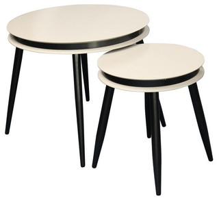 Suri Nesting Tables Midcentury Coffee Table Sets By Kayoom