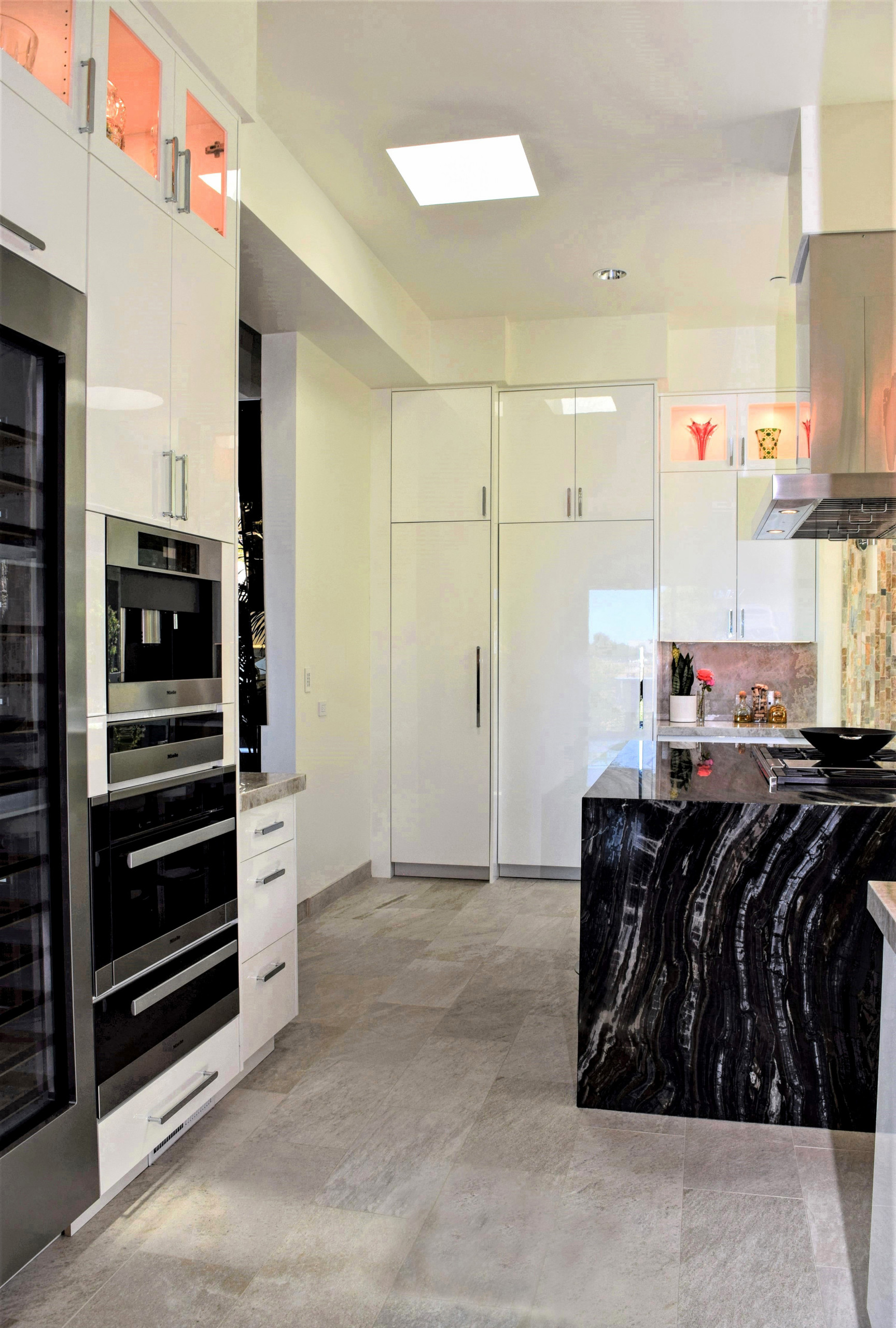 My Contemporary Kitchen Remodel For A Client in The Hollywood Hills Bird Streets