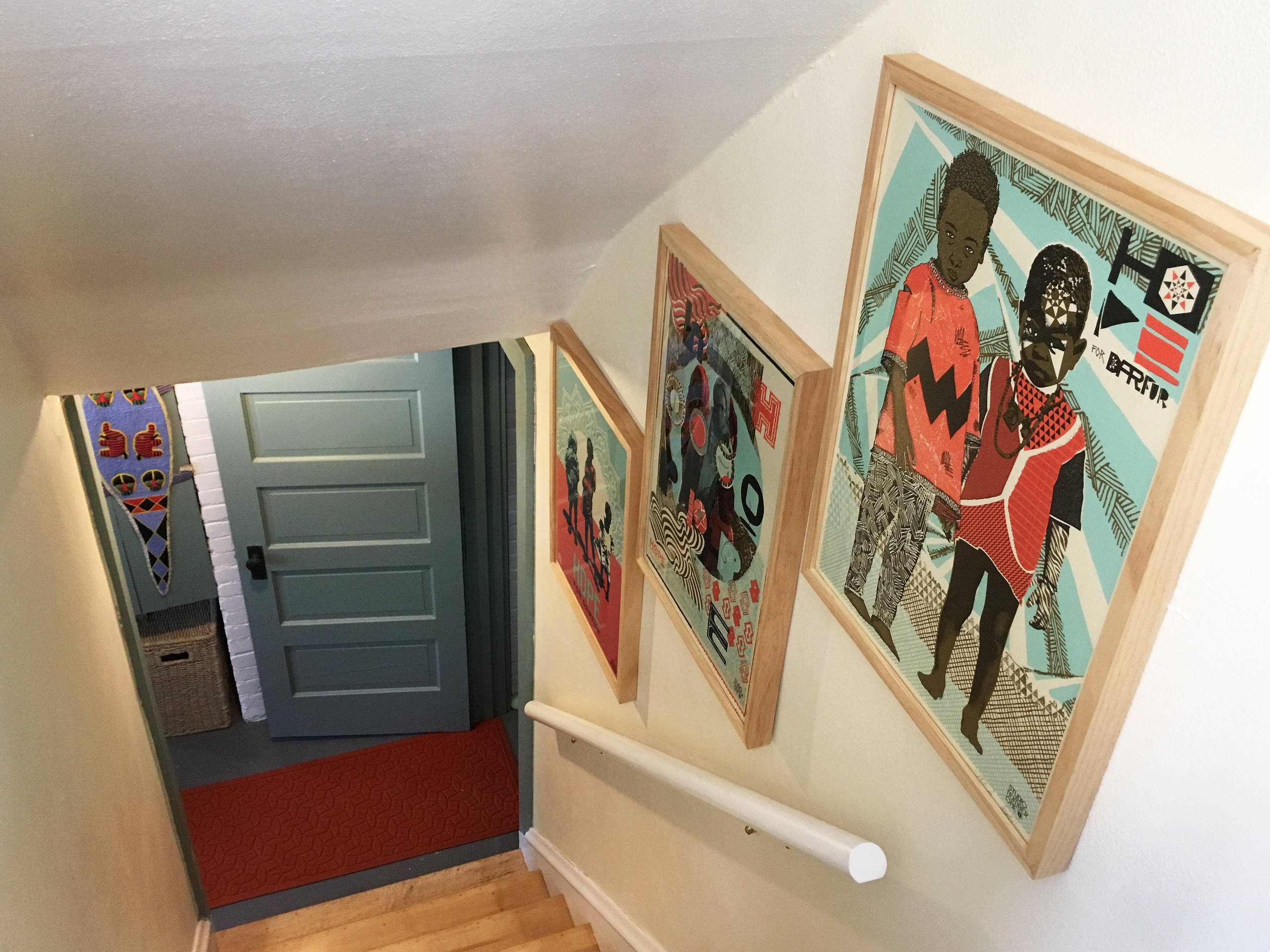 American Four Square Remodel, Shorewood, WI. Stairwell.