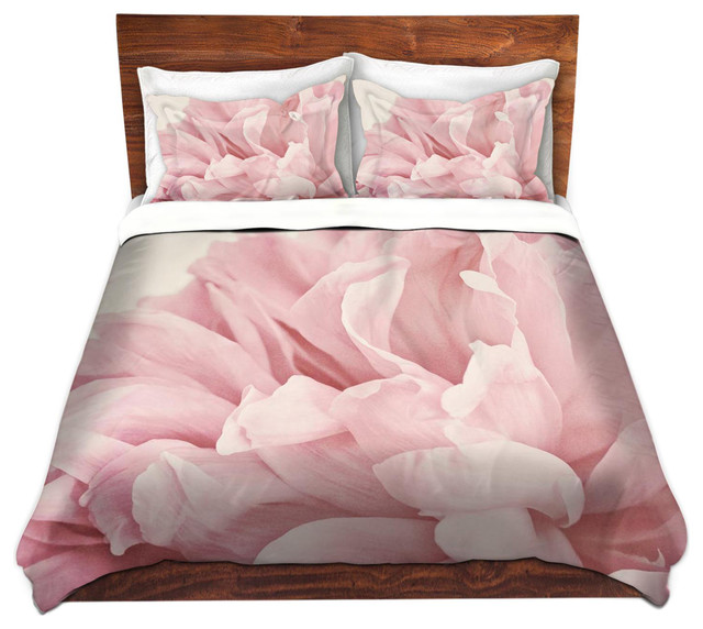 Dianoche Microfiber Duvet Covers Peony Contemporary And
