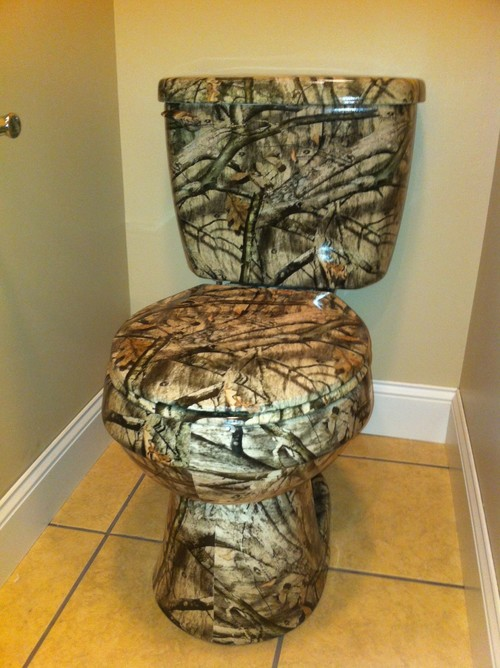 My Husband Created This Custom Toilet For Our Sonu0027s Camo Bathroom. He Can  Do Many Designs. Ethridge Plastics, Cadiz, KY.