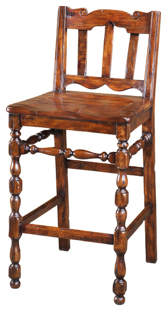 Theodore Alexander Relaxing th Century Kitchen Barstool traditional bar stools and counter