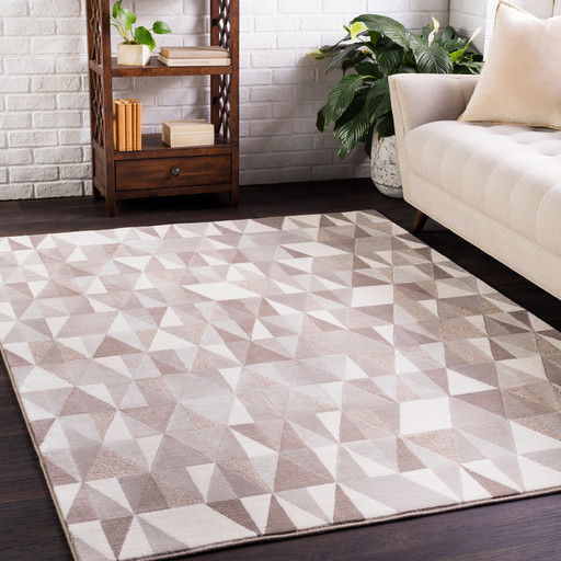 Potterville Contemporary Abstract 2' x 3' Rectangle Area Rug