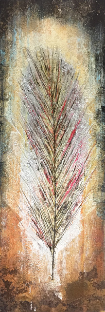 Abstract Hand Painted Wall Decor Tree Leaf I.