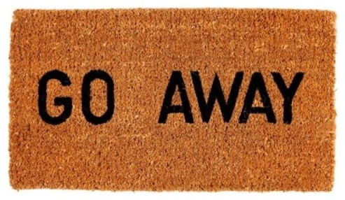 Go Away Natural 1 Thick Doormat by Kempf