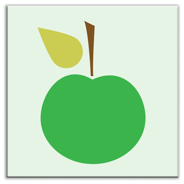 "6""x6"" Folksy Love Satin Decorative Tile, Delicious Green."