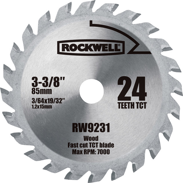 "Rockwell 1-3/8"" Sonicrafter Universal Bi Metal Wood & Nail End Cut Blade 3 Pack"