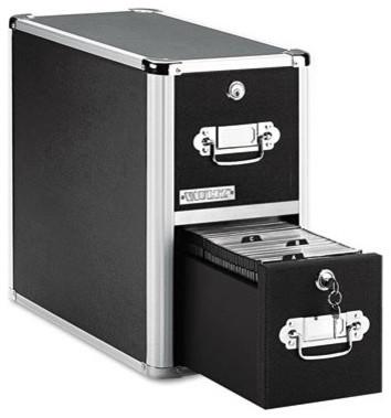 2-Drawer CD File Cabinet, Holds 330 Folders/120 Slim/60 ...