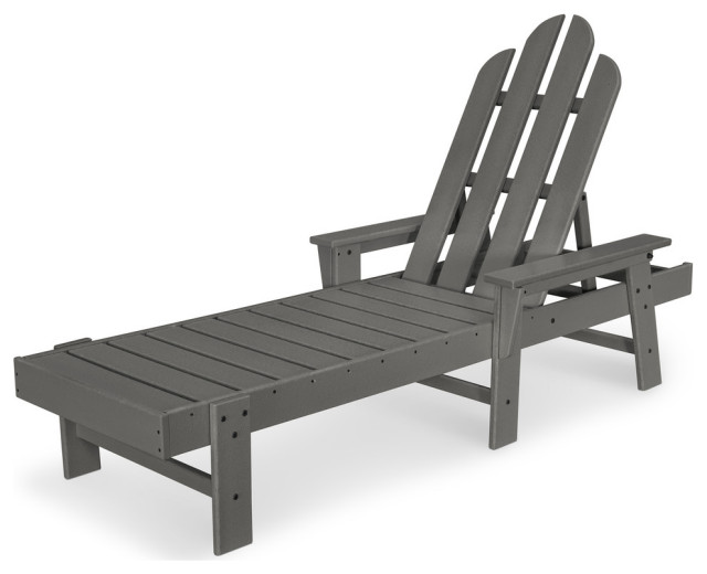 Polywood Long Island Chaise, Slate Gray
