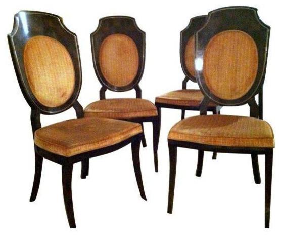 mid century mastercraft burlwood chairs set of 4 rh houzz com Burlwood Cigar Chair Burlwood Dining Chairs
