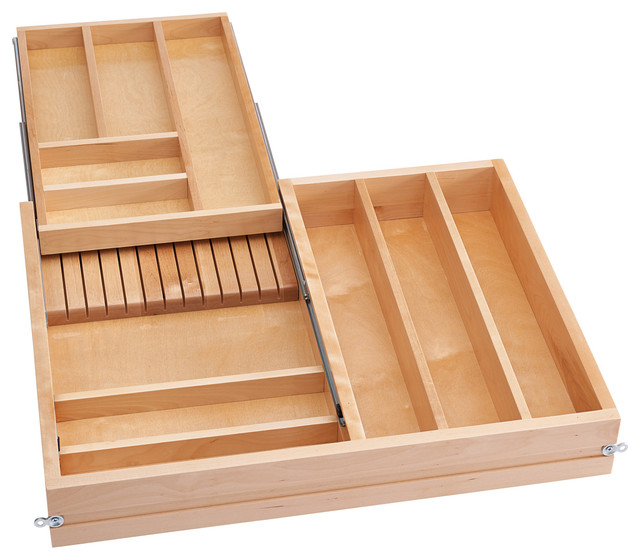 Two Tier Cutlery Drawer With Soft Close Slides