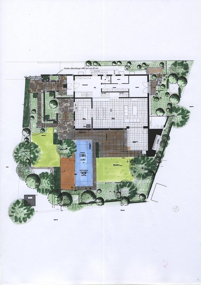 Prämierter Garten Plan