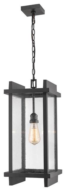 Fallow 1-Light Outdoor Ceiling Lights, Black.