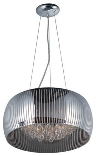 "Et2 E21406 Sense Ii 19"" 6 Light Pendant, Polished Chrome/mirror Chrome."