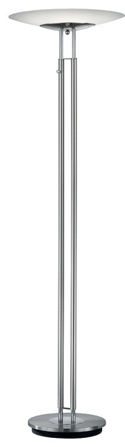 Dubai LED Torchiere, Satin Nickel