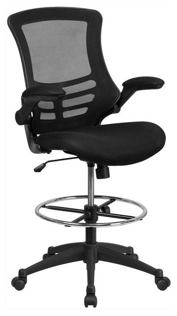 Mid-Back Drafting Chair, Black.