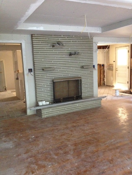Modern Fireplace Surrounds keep or resurface this fireplace surround in gutted midcentury