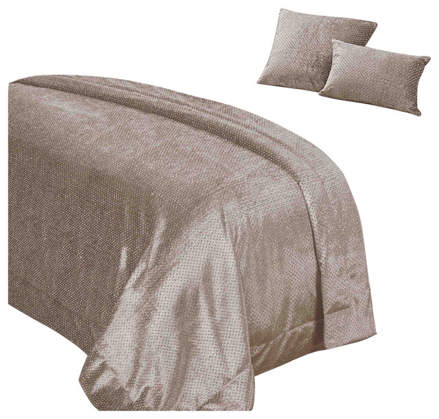 Sienna Glitter Velvet Duvet Cover With Pillowcase Bedding Set -  Transitional - Throws - by Online Home Shop | Houzz UK