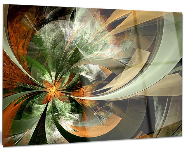 design art usa symmetrical orange green fractal flower. Black Bedroom Furniture Sets. Home Design Ideas
