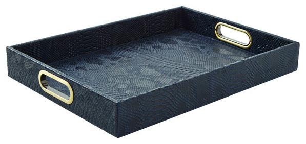 Python Rectangle Tray, Midnight Blue