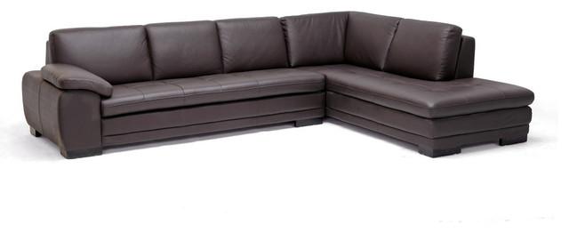 Astounding Baxton Studio Diana Dark Brown Sofa Chaise Sectional Beatyapartments Chair Design Images Beatyapartmentscom