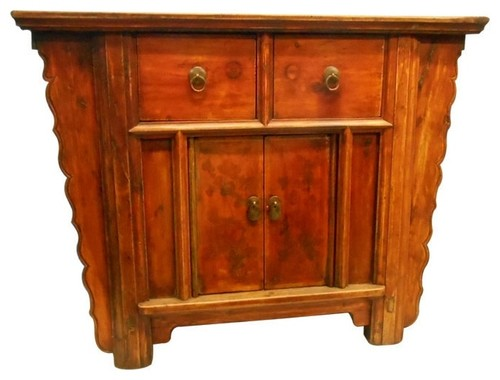 Y Shaped Chinese Antique-Style Cabinet Made of Elm Wood