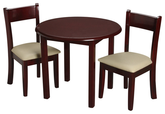 Gift Mark Childrens Cherry Round Table With 2 Matching Upholstered Chairs  contemporary kids tables. Gift Mark Childrens Round Table With 2 Matching Upholstered Chairs