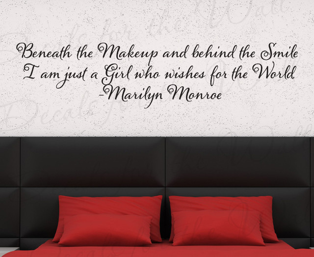 Wall Decal Sticker Quote Vinyl Lettering Beneath The Makeup Marilyn Monroe  J63 Modern Wall  Part 70