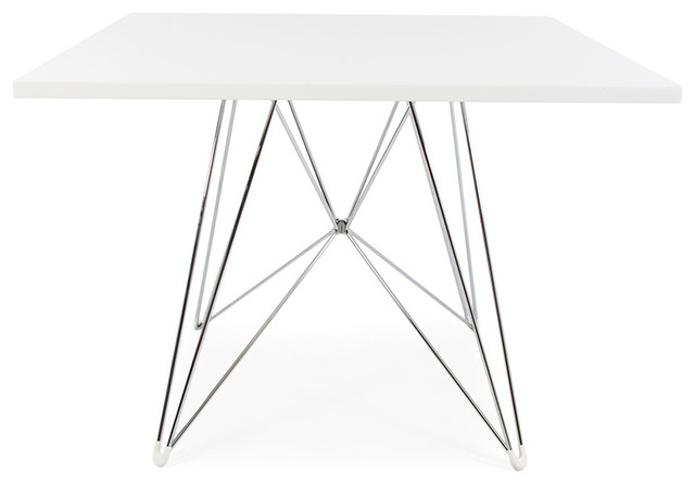 Mid Century Square Eiffel Dining Table Contemporary Dining - Mid century square dining table