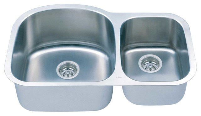 C Tech Imperial Double Sink Contemporary Kitchen Sinks By The Source