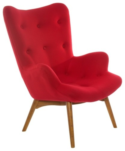 Superb Poly And Bark Auzzie Lounge Chair Red Ibusinesslaw Wood Chair Design Ideas Ibusinesslaworg