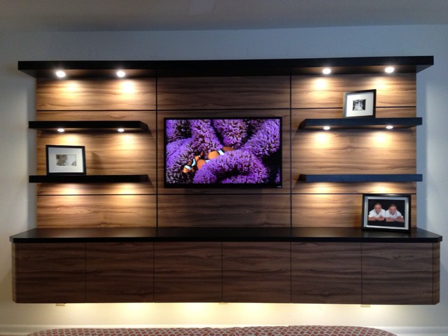 MODERN TV UNIT Contemporary Miami By Monte Cristos