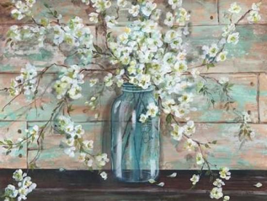 Blossoms In Mason Jar Print.
