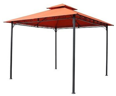 Terracotta 10&x27;x10&x27; All Weather Canopy, Black Frame.