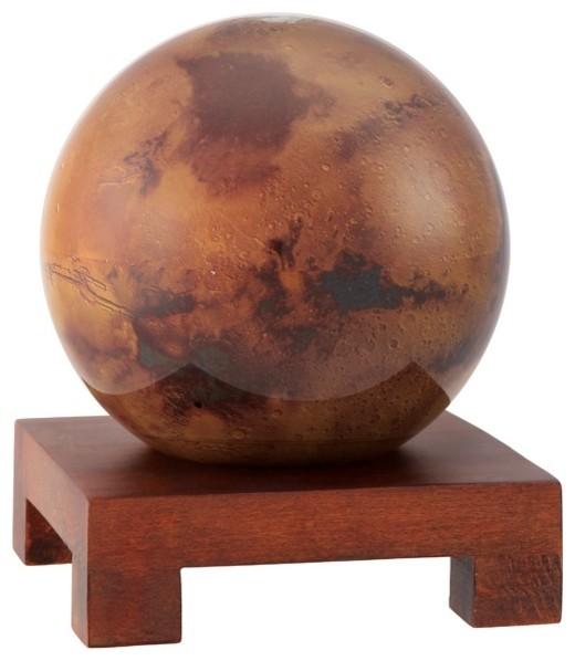 "MOVA 6"" Mars Revolving Globe With Square Natural Wood Base"