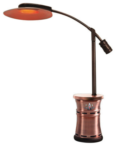 Cantilever Commercial Dome Style Patio Heater, Brushed Copper, Propane  Contemporary Patio Heaters