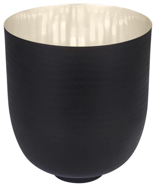 Black Kaas Large Decorative Bowl, Silver