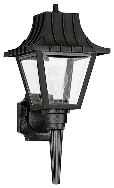 Seagull Lighting 8720 32 Clear Polycarbonate Outdoor Fixture Traditional Wall Lights And Sconces By Front