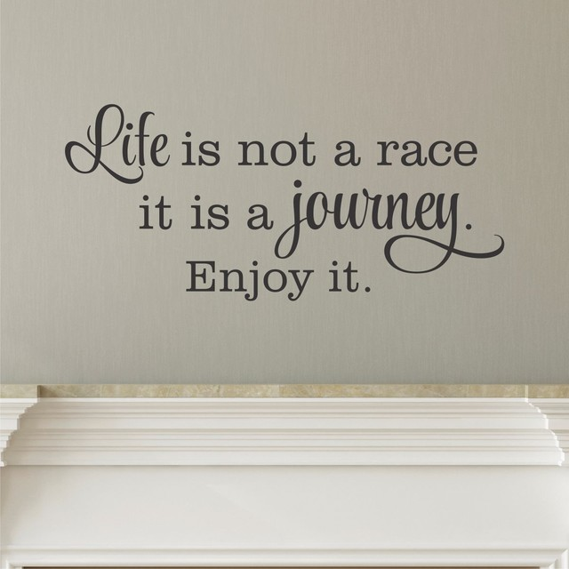 Life Is A Journey Wall Quotes Decal Black Contemporary Wall Decals Part 86