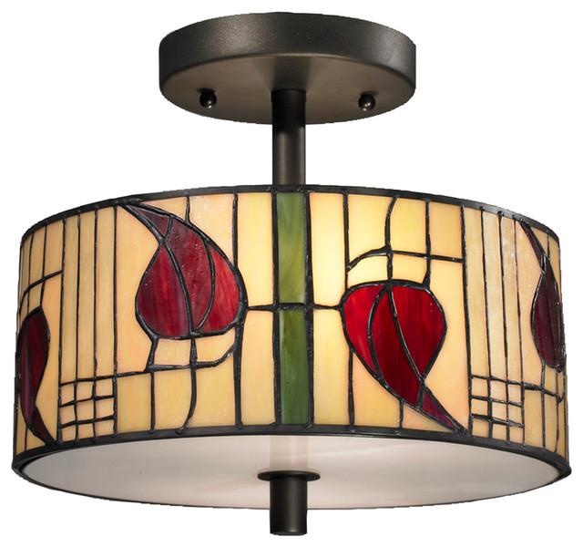 Dale Tiffany Th12322 Macintosh Semi Flush Mount Craftsman Flush Mount Ceiling Lighting By Dale Tiffany