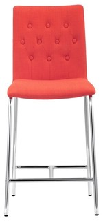 Zuo Uppsala Modern Counter Chair, Tangerine