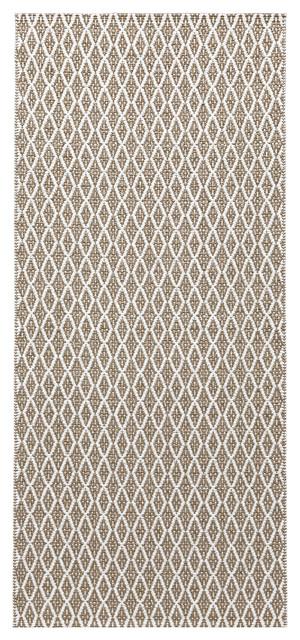 Eye Woven Vinyl Floor Cloth, Beige, 70x200 cm