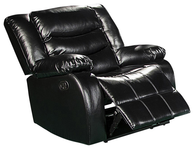 gramercy black leather rocker recliner - Leather Rocker Recliner