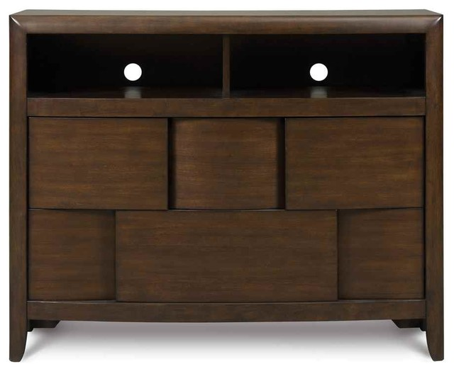 Wooden Media Chest in Chestnut Finish - Contemporary - Media Cabinets - by ShopLadder