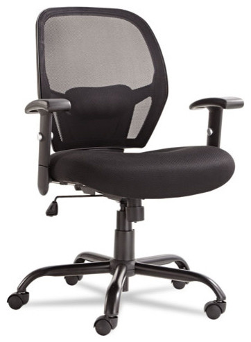 Alera Merix450 Series Mesh Big Tall Mid Back Swivel Tilt Chair Black Contemporary Office Chairs By Bisonoffice