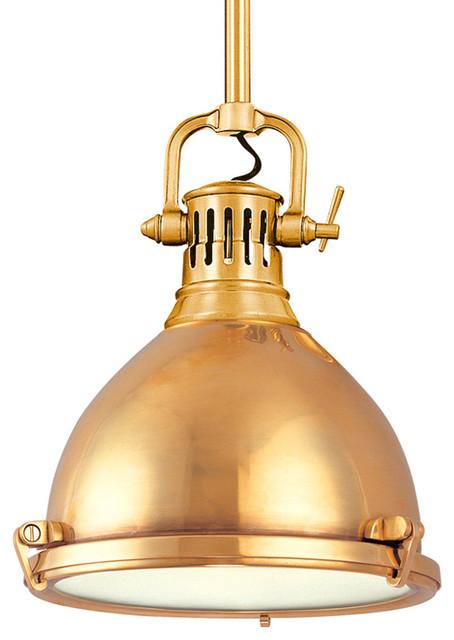 Hudson Valley Lighting 2211-Agb Pendant Light In Aged Brass.